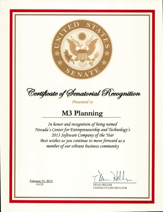 United States Senate recognition