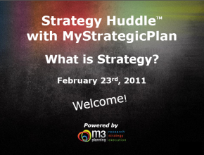 What is strategy and how is it developed in a strategic plan? (43 mins)