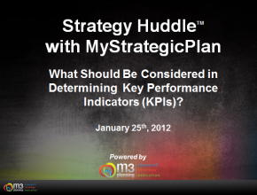 What to Consider When Determining Key Performance Indicators (3 mins)