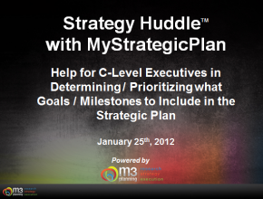 Determining / Prioritizing Strategic Goals and Milestones (8 mins)
