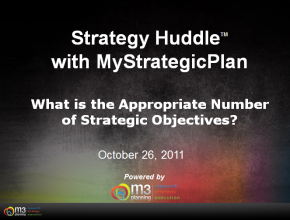 What is the Appropriate Number of Strategic Objectives? (5 mins)