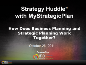 How Do Business Planning and Strategic Planning Work Together? (8 mins)