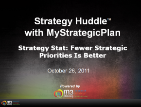 When Writing a Set of Strategic Objectives, Fewer is Better (3-mins)