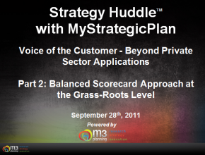 Voice of the Customer – Balanced Scorecard Approach at the Grass-Roots Level (9 mins)