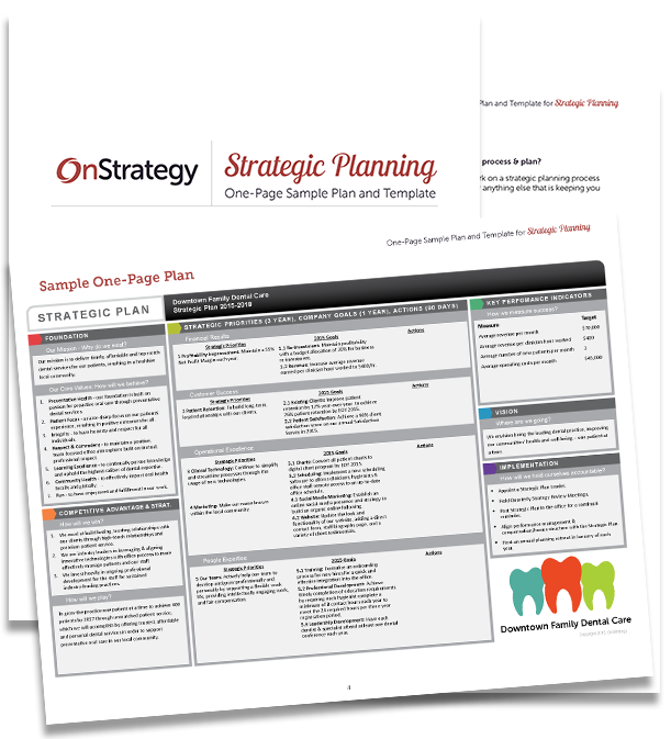 Thank You – Strategic Planning One-Page Sample Plan and Template