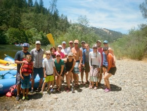 River Rafting Retreat on the American River in California